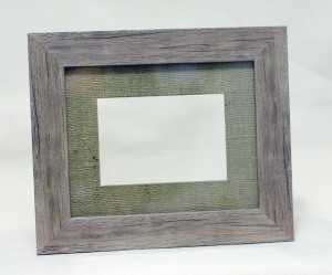 Rustic Wooden Frame w/ Burlap Matting: 5x7 in.