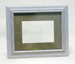 Rustic Ivory Frame w/ Burlap Matting: 5x7 in.