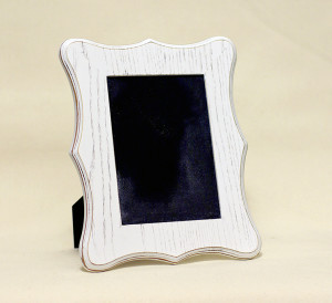 Curvy Ivory Frame: 5x7 in. Photo