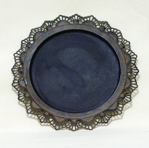 Black & Copper Circular Metal Chalkboard