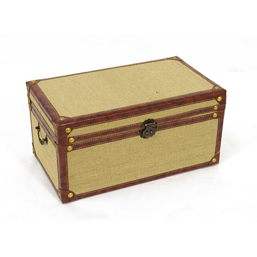 burlap lined medium trunk