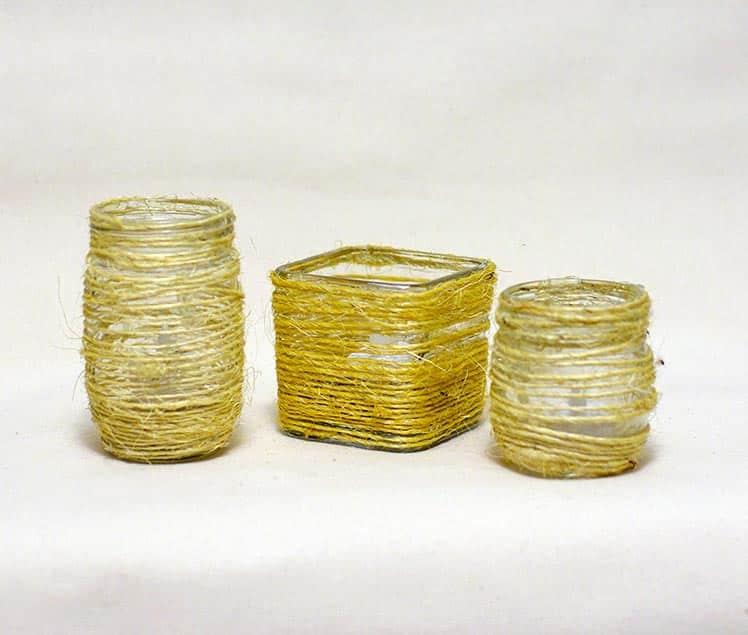 Random Vases wrapped with twine