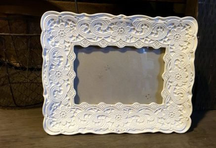 white floral frame for rent