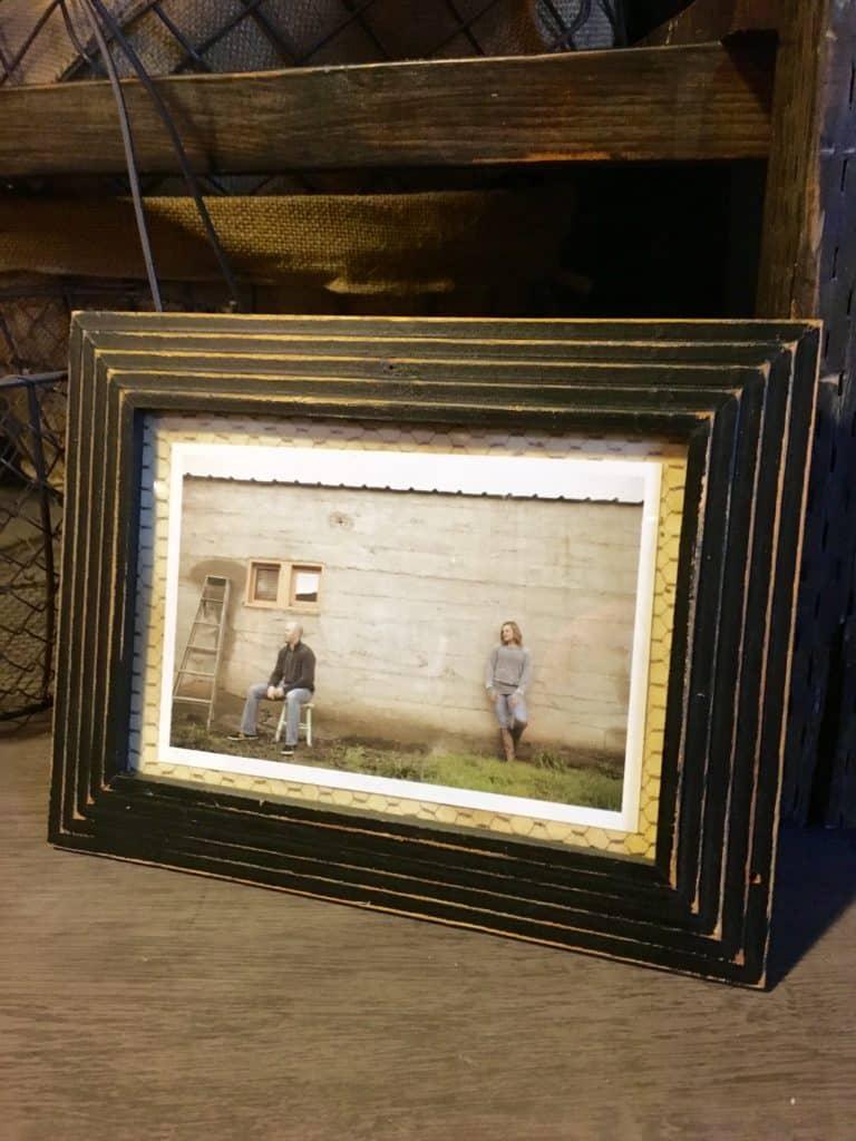 Distressed Black Frame for rent