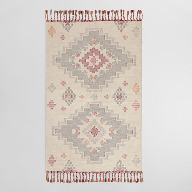 rent this diamond kilim rug for any event