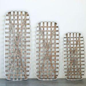 Rectangle Wood Open Weave Baskets